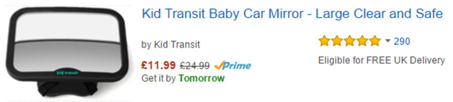 Buy Baby Car Mirror from Amazon