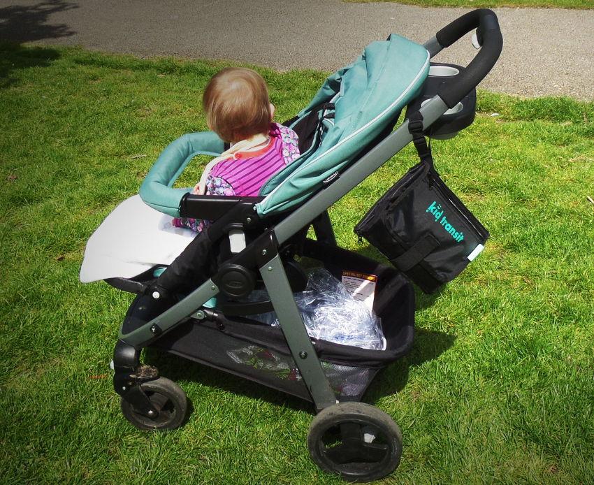 kid transit travel changing mat on stroller
