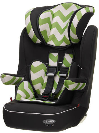 obaby 123 car seat green