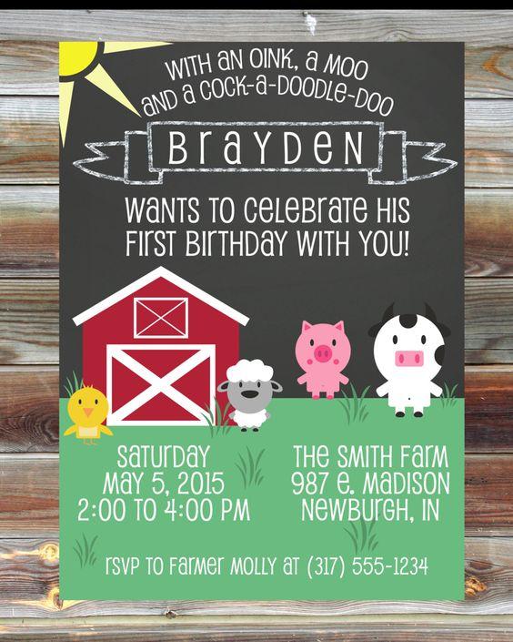 First Birthday Theme Ideas Farm Animals