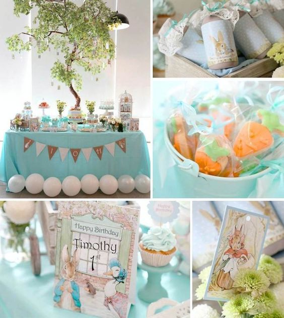 First Birthday Peter Rabbit Theme Party