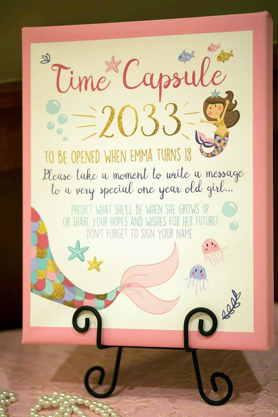 First Birthday Party Time Capsule Theme