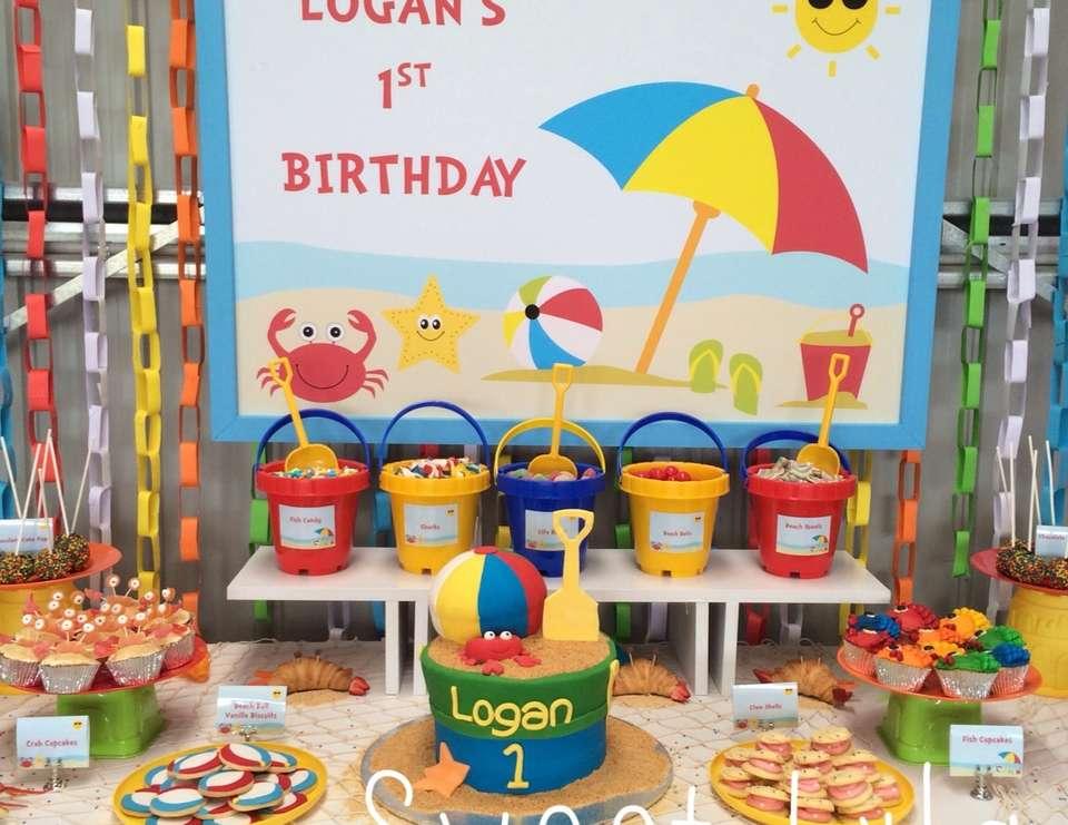 First Birthday Party Theme Ideas Beach