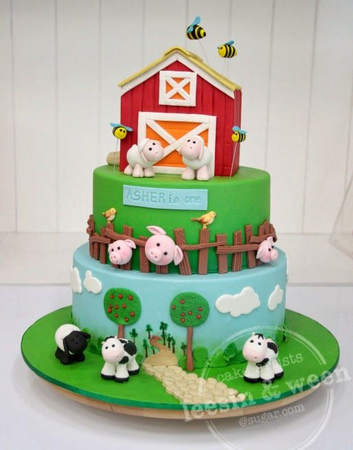 Farm Barn Birthday Cake