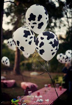 Farm Themed Cow Print Balloons