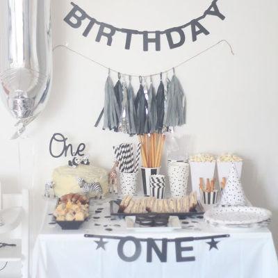 First-Birthday-Party-Theme-Ideas-MonochromeTheme