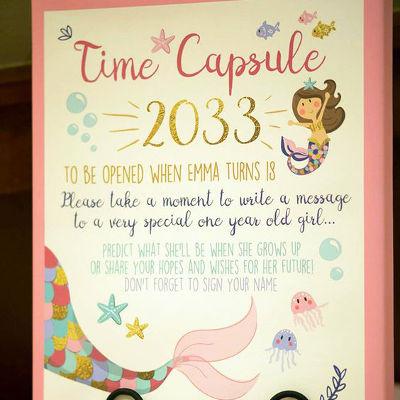 First-Birthday-Party-Theme-Ideas-Time-Capsule-Theme