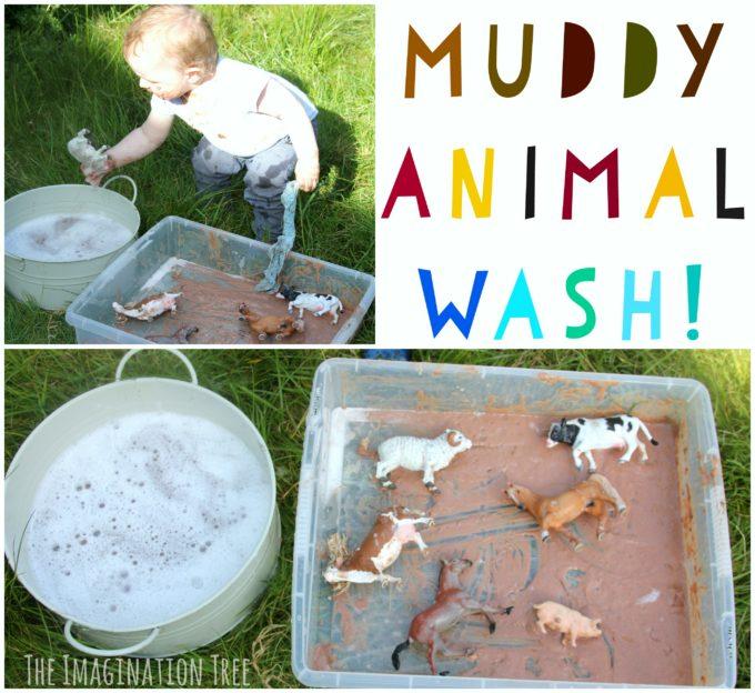 First Birthday Party Farm Theme Muddy Animal Wash Game