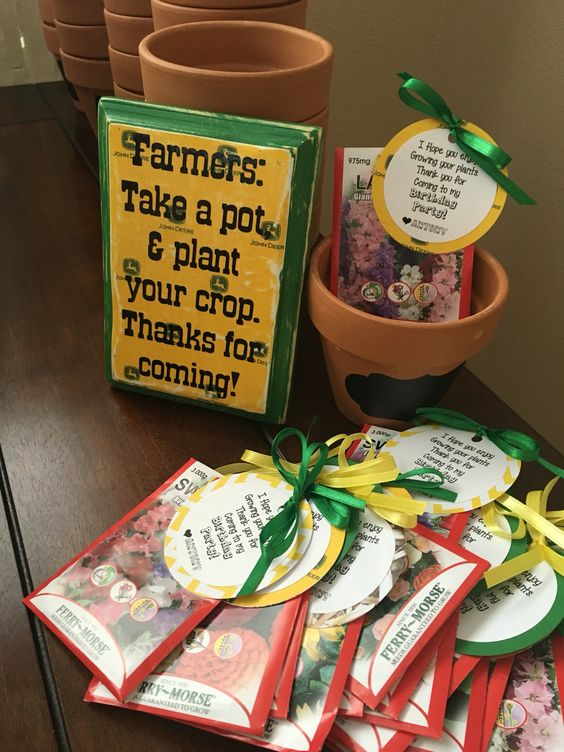 First Birthday Farm Party Ideas Thank You Party Bags