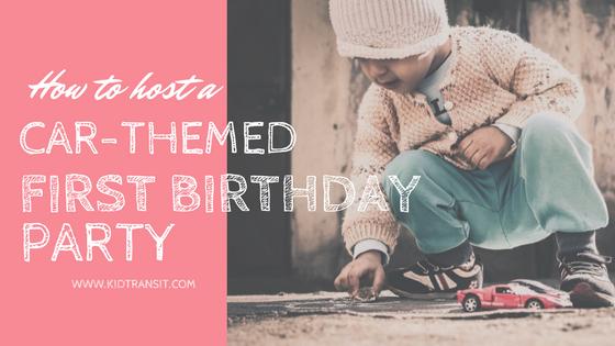 Car Theme 1st Birthday Party Ideas