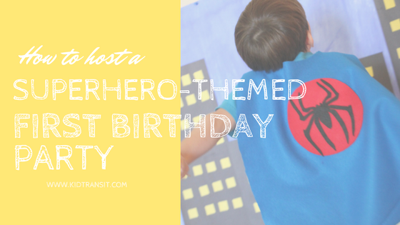 Superhero Theme 1st Birthday Party Ideas