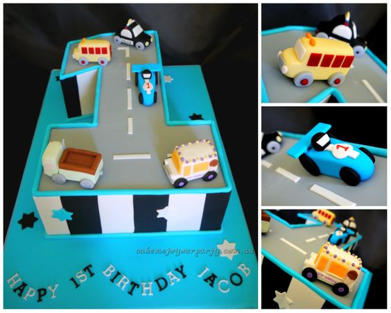 First Birthday Party Ideas Car Theme Cake