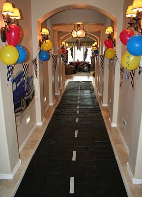 First Birthday Party Ideas Car Theme Decor