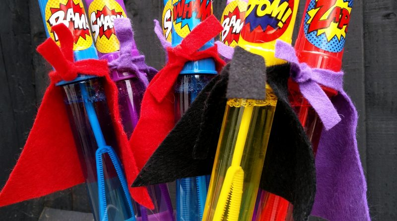 First Birthday Party Favours Superhero
