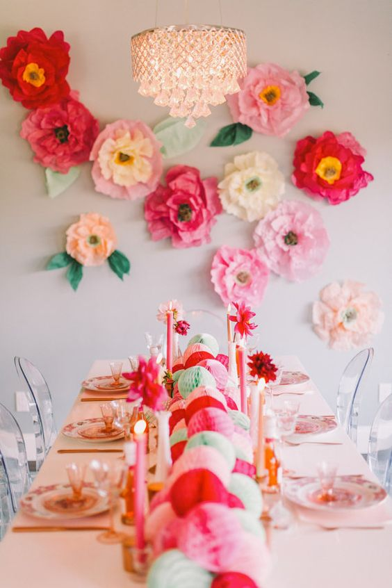 Garden Party Decor Paper Flowers