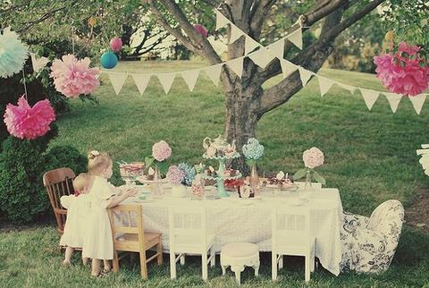 Garden Party Decor Outside Table