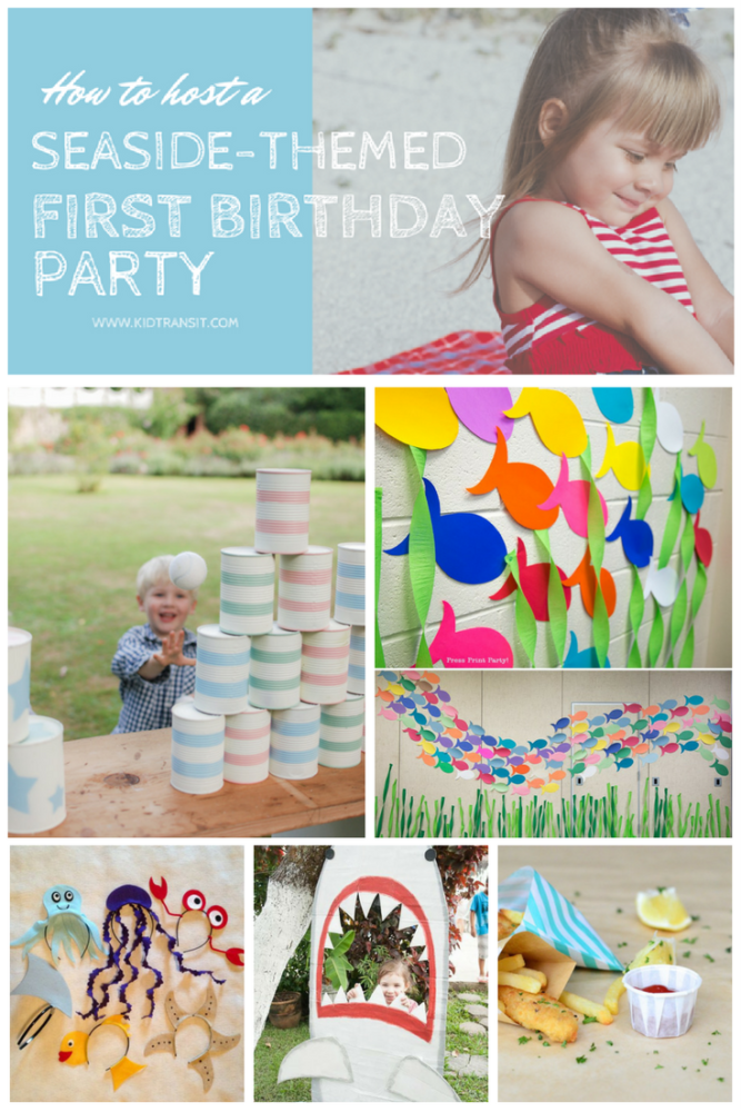 How to Host a Beach Themed First Birthday Party
