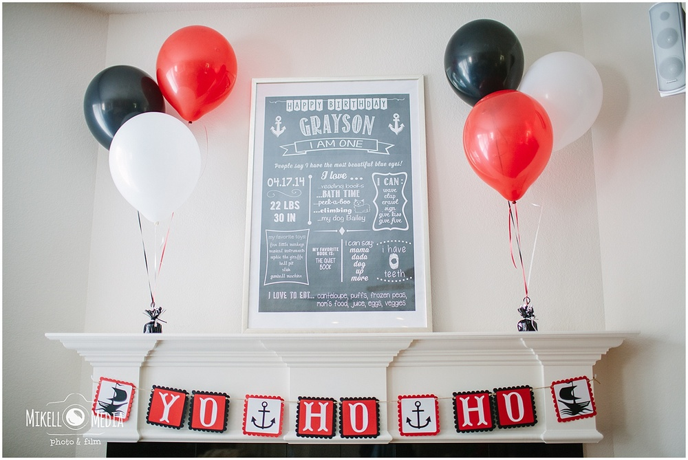 Pirate First Birthday Theme Decor
