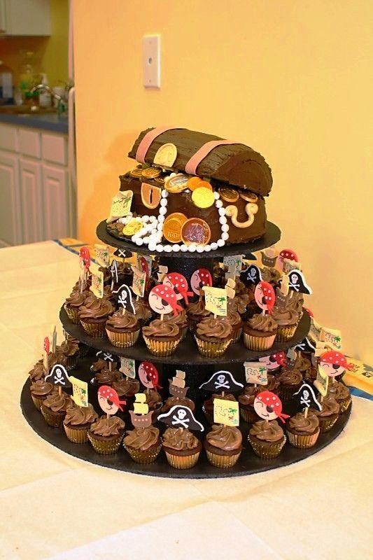 Pirate Chest Birthday Cake