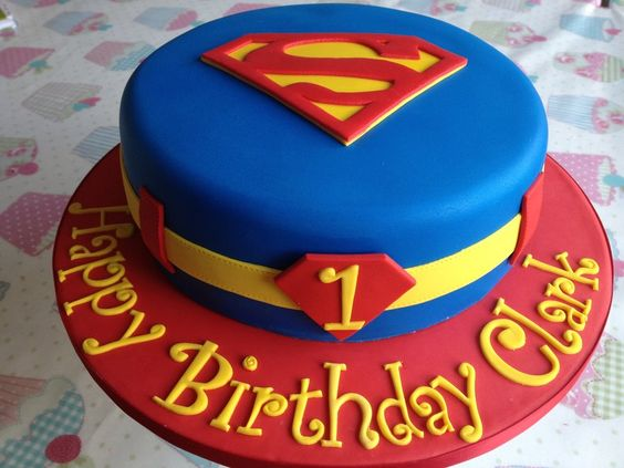 First Birthday Party Cake Superman.