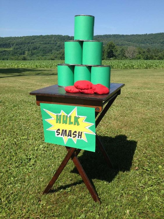 First Birthday Party Hulk Smash Superhero Theme