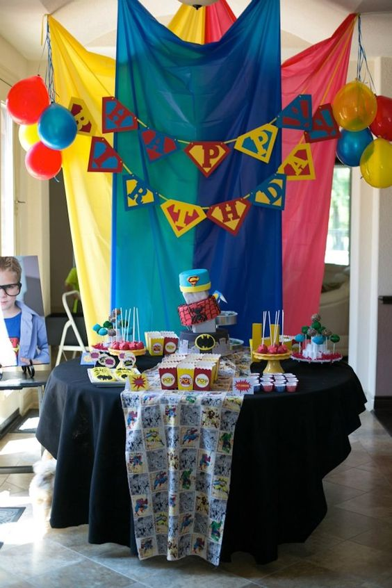 First Birthday Party Superhero Theme Decor
