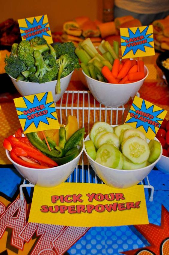 First Birthday Party Superhero Theme Food