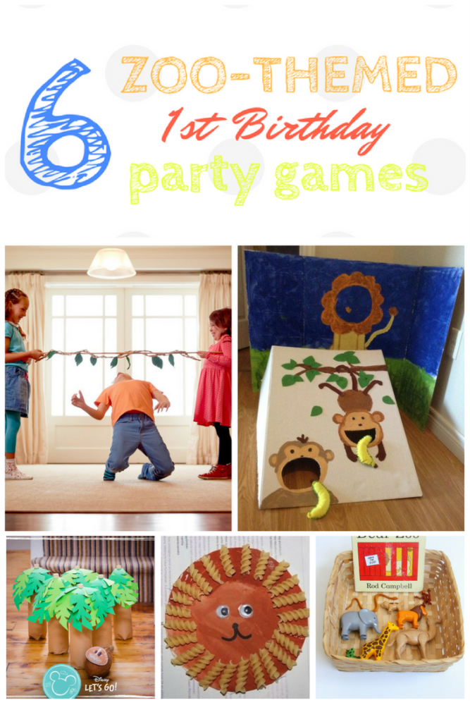 10 Zoo Themed Party Games First Birthday