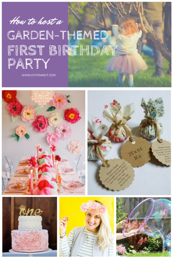 How to Host a Garden Themed First Birthday Party
