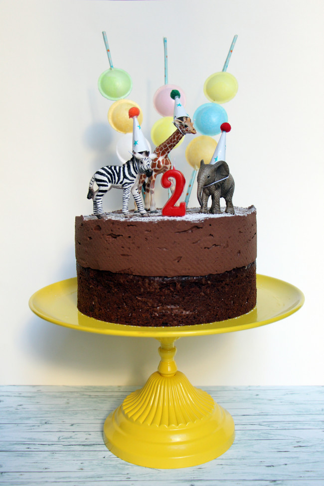 Zoo Themed First Birthday Cake