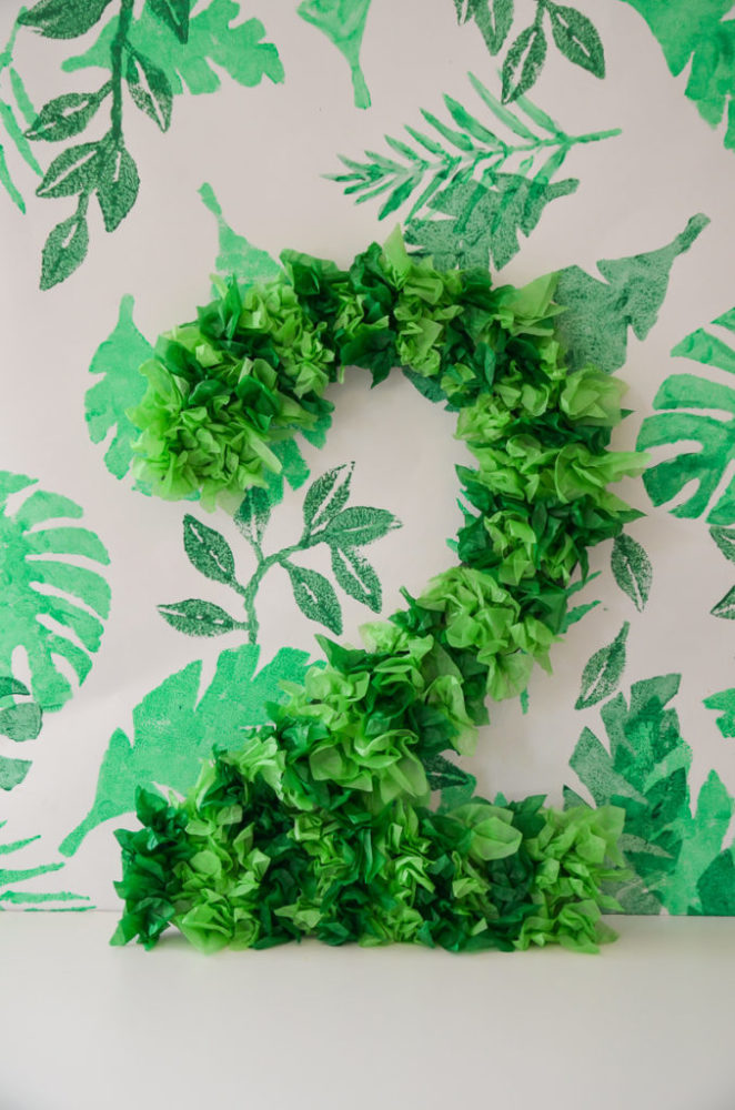 Zoo Themed First Birthday Party Decor Leaf Number