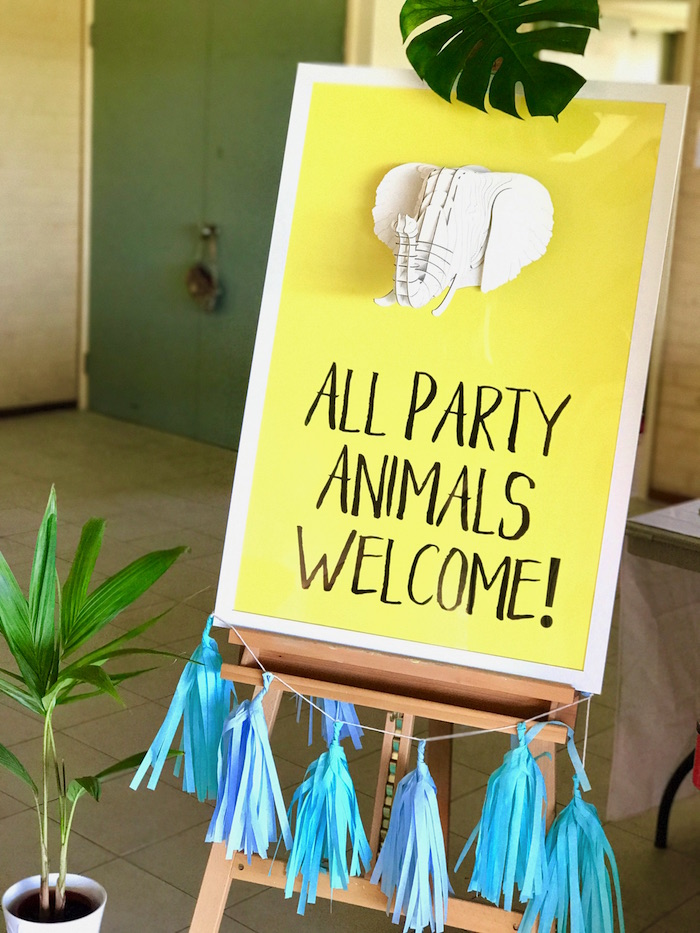 Zoo Themed First Birthday Party Decor Party Animals Sign
