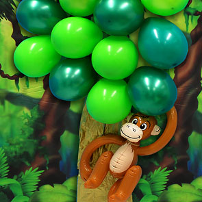 Zoo Themed First Birthday Party Decor Balloon Tree