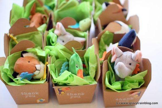Zoo Themed Birthday Party Favours Finger Puppets