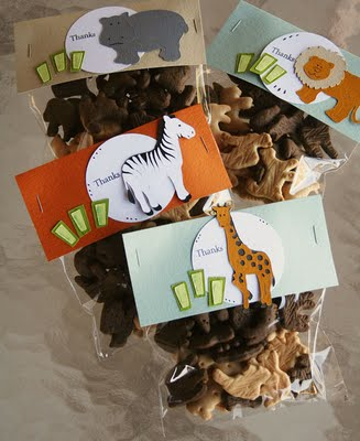 Zoo Themed First Birthday Party Favours Sweet Package