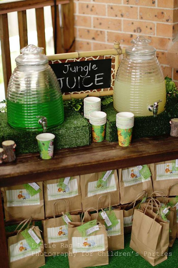 Zoo Themed Party Food and Drink
