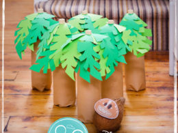 Zoo Themed First Birthday Party Games Coconut Toss
