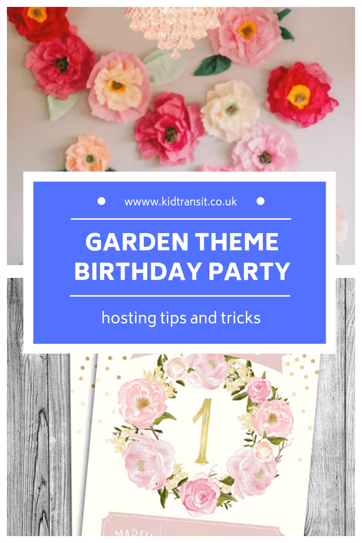How to host a garden theme first birthday party
