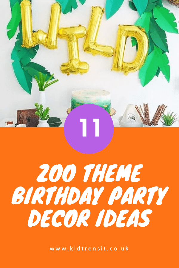 Zoo theme party decor ideas for a zoo first birthday party.