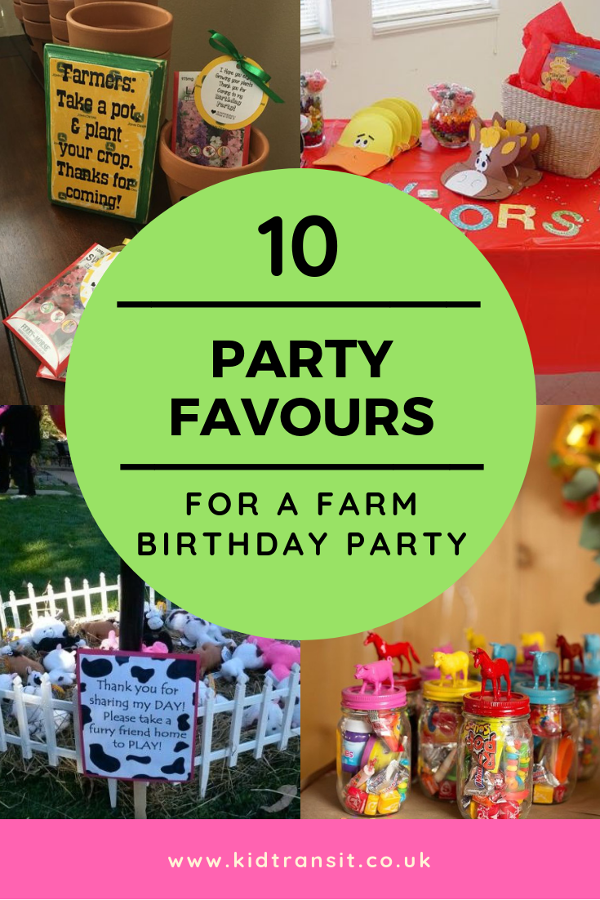 10 farm themed party favours for a first birthday party. #firstbirthday #kidsparty #partyfavours #farmparty