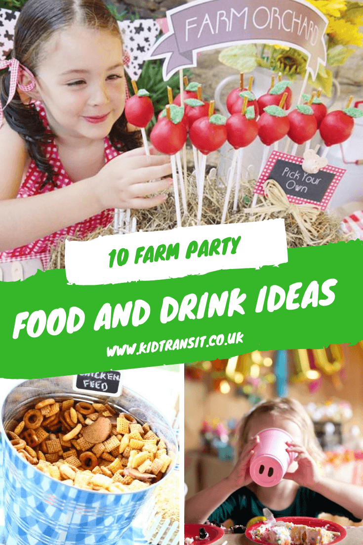 10 food and drink ideas for a farm theme first birthday party