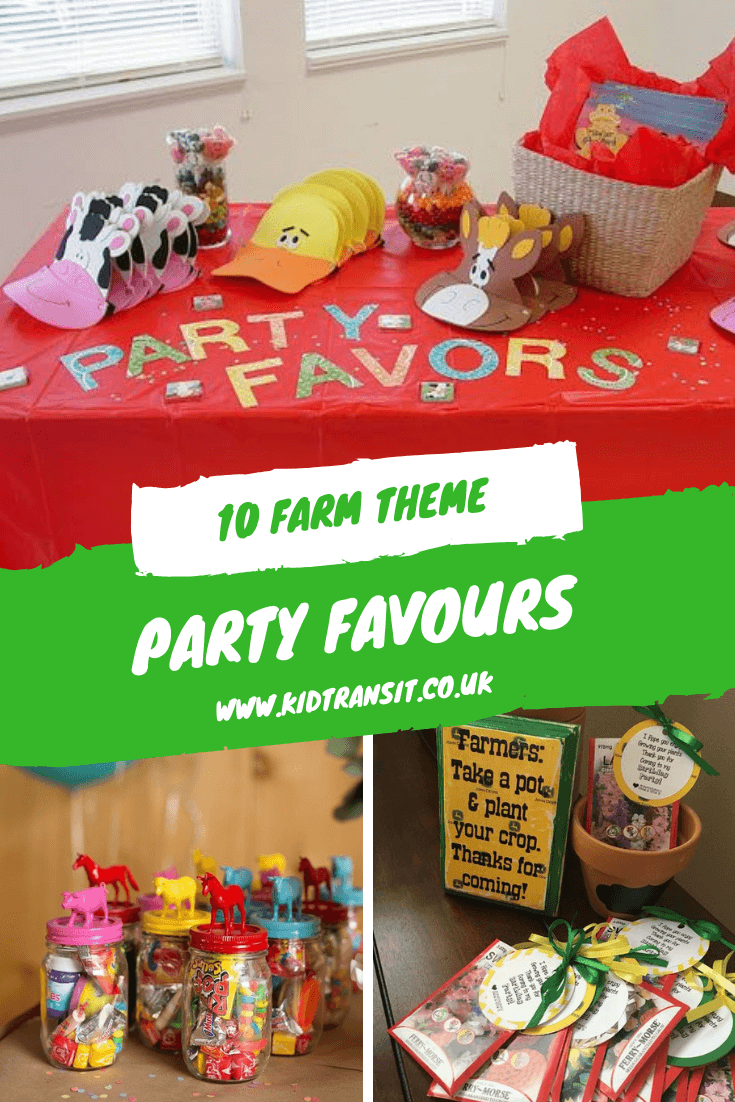 10 party favours for a farm theme first birthday party