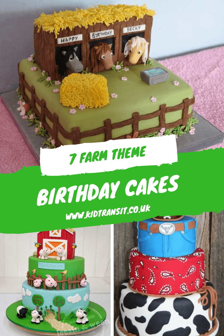 7 cake ideas for a farm theme first birthday party