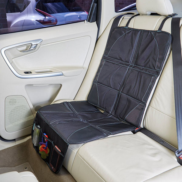 car seat protector and kick mat bundle. Black Bedroom Furniture Sets. Home Design Ideas