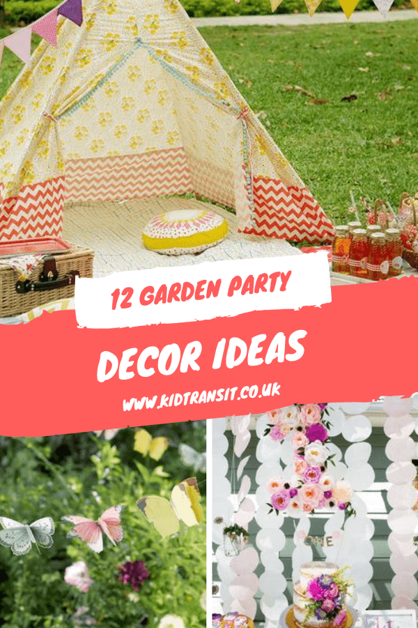 12 garden themed party decor ideas for a first birthday. #gardenparty #firstbirthday #birthdayparty #kidsparty