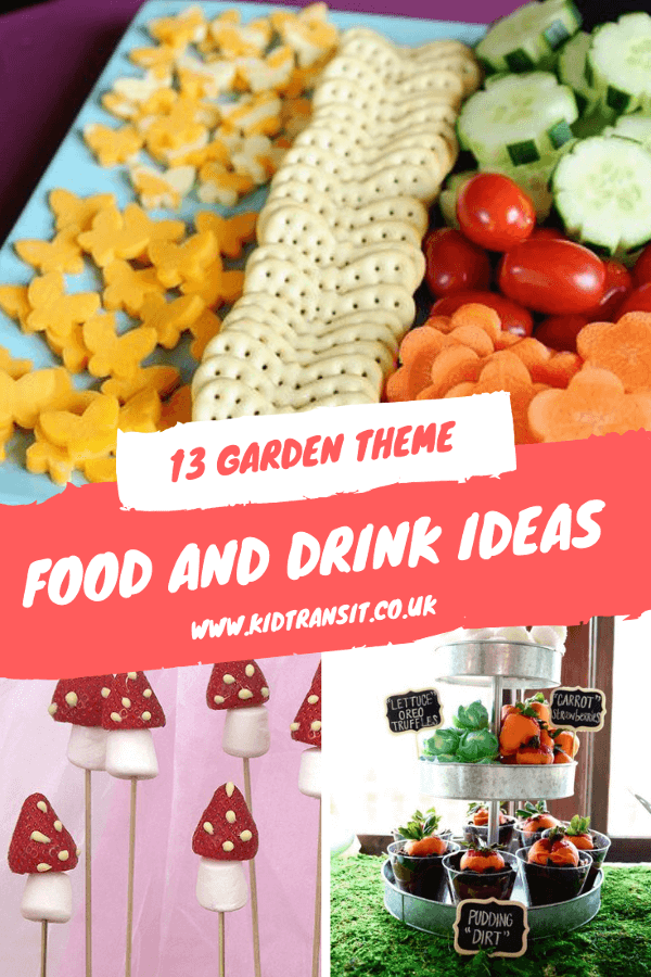13 garden party food and drink ideas for a first birthday party. #kidsparty #gardenparty #partyfood #firstbirthday