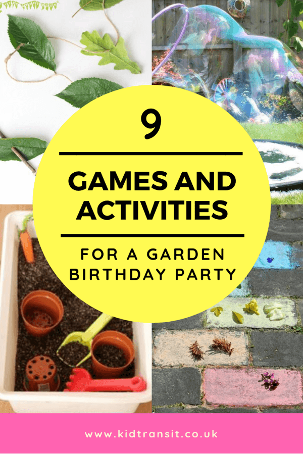 9 garden party games and activities for a first birthday. #gardenparty #kidsparty #partygames #firstbirthday
