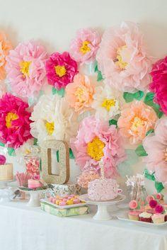 Garden Themed First Birthday Party Decor