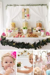 Garden Themed First Birthday Party Decor