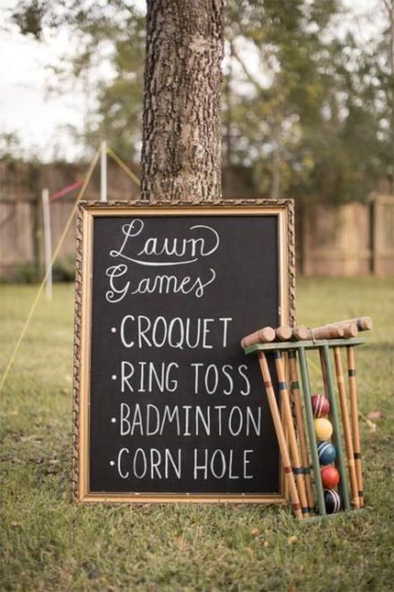 Garden Themed First Birthday Party Game traditional lawn games